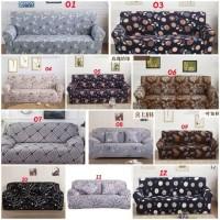 Cover Sofa Sarung Sofa 2 seater Bermotif Free 1pcs Sarung Bantal