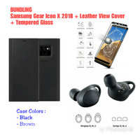 Samsung Galaxy Note 9 Leather View Cover+Samsung Gear Icon X 2018