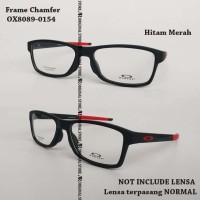 Kacamata Baca Oa*kley Chamfer 140 Bukan Voltage Frame Minus Hitam Red