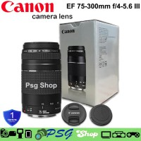 LENSA CANON TELE ZOOM KAMERA CANON EF 75 - 300mm F4-5.6 III