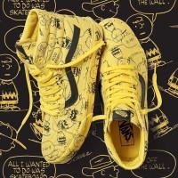 MENARIK Vans x Peanuts SK8 HI Reissue Jaune Charlie Brown Premium Ori