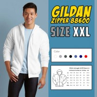 Jaket Gildan Zipper 88600 Originall ( SIZE XXL )