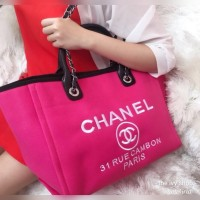 Tas Channel Cabas Rue Cambon Tote Shoulder Bag Import Murah