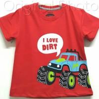 Baju kaos karakter anak laki-laki osgkosh dirt merah 1-6