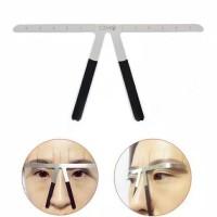 Eyebrow ruler penggaris sulam alis atau cetakan thumbnail