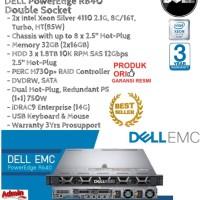 DELL Server R640 2xIntel Xeon Silver 4110 DoubleSocket RackmountSeries