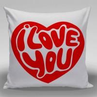 Bantal Dekorasi Couple Valentine / Sofa / Mobil - I Love You