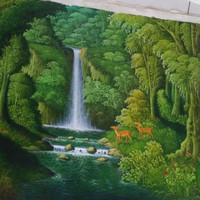 870 Lukisan Pemandangan Air Terjun Simple Terbaik