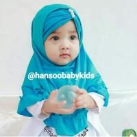 Jual Jilbab Hijab Kerudung Anak Instan Syiria Kerut Atas Mutiara Pearl Lucu Murah