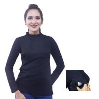 Baju Menyusui Manset Aisha Hitam ukuran SM