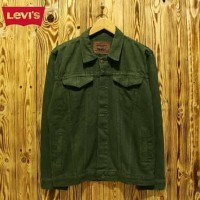 Jaket jeans pria jaket denim levis warna hijau army