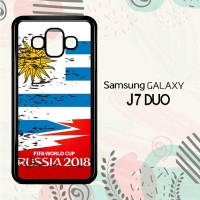 Casing Samsung Galaxy J7 Duo HP Fifa World Cup Uruguay Flag L2576