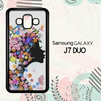 Casing Samsung Galaxy J7 Duo HP Woman Flower LI0202