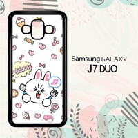 Casing Samsung Galaxy J7 Duo HP Wallpaper Line Cony LI0199