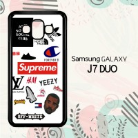 Casing Samsung Galaxy J7 Duo HP Hype Sticker LI0174