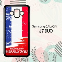 Casing Samsung Galaxy J7 Duo HP Fifa World Cup France Flag L2570