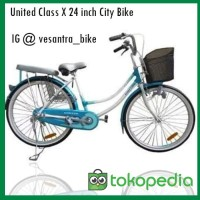 WB | United Class X City Bike Sepeda Mini 24 inch