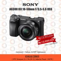 Kamera Mirrorless Sony A6300 + Kit 16-50 Garansi Resmi Sony Indonesia