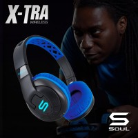 X-TRA Performance Bluetooth Over-Ear Headphones for Sports SOUL Blue