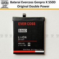 Baterai Evercoss Genpro X S50D Double Power Original OEM Batre HP Ori