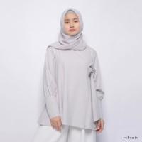 Eclemix Papita Top grey Atasan Muslimah