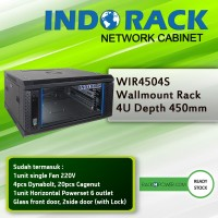 Wallmount Rack Indorack 4U depth 450mm