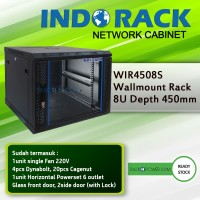 Wallmount Rack Indorack 8U depth 450mm