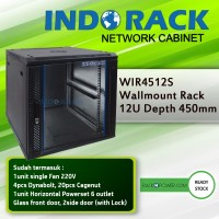 Wallmount Rack Indorack 12U depth 450mm