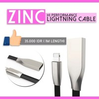 Kabel Data Charger Lightning Zinc for Iphone 5 6 7 Murah Fast Charging