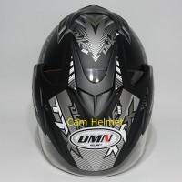 Helm 2 kaca (Double Visor) Murah Black doff Abu Duke DMN