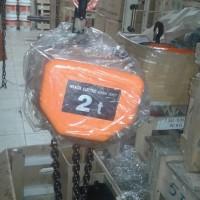 Electric Chain Hoist HITACHI Cap. 2 ton x 6 Mtr ( Naik-turun )