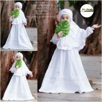 Baju muslim anak white series putih set anak manasik haji
