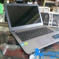 Laptop Asus A450CC Core i3 ivy Ram4gb Nvidia 720m 2gb silverdark Bekas