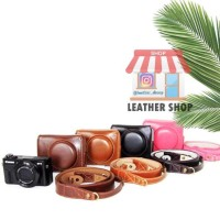 NEW! LEATHER CASE COVER KAMERA CANON G7XII G7X MARK II PROMO