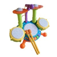 Mainan anak laki cowok alat musik mini drum drummer kecil cymbal stick