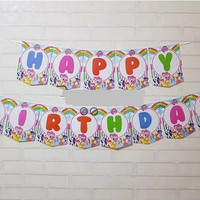 Bunting Flag / Banner Flag Happy Birthday Little Pony Rainbow No. 132