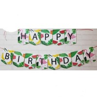 Bunting Flag / Banner Flag Happy Birthday Flamingo No. 136