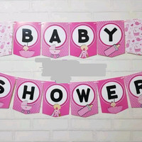 [Jual murah] Bunting Flag / Banner Flag Baby Shower Girl No. 150