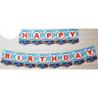 Bunting Flag / Banner Flag Happy Birthday Bus Tayo No. 140