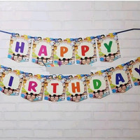 [Jual Murah] Bunting Flag/Banner Flag Happy Birthday Tsum Tsum No.148