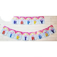 Bunting / Banner Flag Happy Birthday Unicorn Pegasus Rainbow No. 133