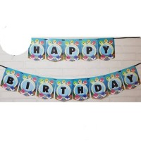 [Jual Murah] Bunting Flag/Banner Flag Happy Birthday Baby Shark No.146
