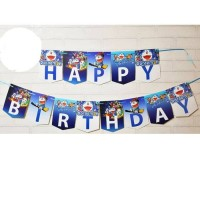 [Jual Murah] Bunting Flag / Banner Flag Happy Birthday Doraemon No.145