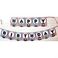 Bunting Flag / Banner Flag Happy Birthday Kereta Thomas No. 143