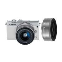 Canon EOS M100 Kit 15-45mm + 22mm Kamera Mirrorless - White