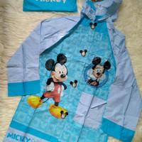 Jas Hujan Anak Karakter Mickey Mouse Raincoat Murah (Di atas Kido)