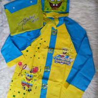 Jas Hujan Anak Karakter Sponge Bob Raincoat (Di atas Kido) Murah