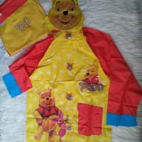 Jas Hujan Anak Karakter Winnie The Pooh Raincoat Murah (Di atas Kido)