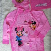 Jas Hujan Anak Karakter Minnie Mouse (Di atas Kido) Original Raincoat