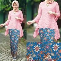 Setelan Muslim Stelan Kebaya Brukat Mila Pink Hijab 0111 Rg0 G AHB4423